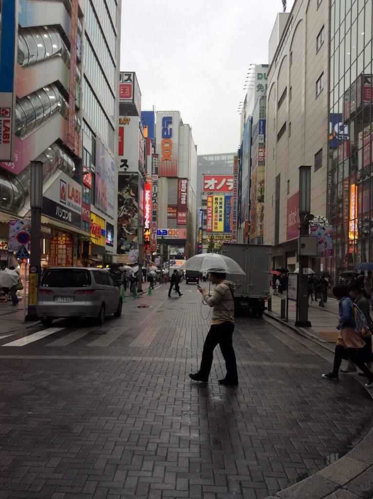 akihabara sous la pluie